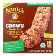 Annie's Homegrown Organic Chewy Granola Bars Peanut Butter Chocolate Chip - Case Of 12 - 5.34 Oz.