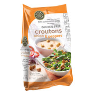 Natural Nectar Croutons - Gluten Free - Onions And Pepper - Case Of 8 - 2.6 Oz.