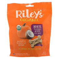 Riley's Organics Riley's Organics Treat - Pumpkin And Coconut - Case Of 5 - 5 Oz.