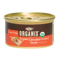 Castor And Pollux Organic Grain Free Cat Food - Shredded Chicken - Case Of 24 - 3 Oz.