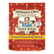 Newman's Own Organics Snacks Sticks - Chicken And Potato - Case Of 12 - 4 Oz.