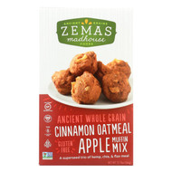 Zemas Madhouse Food Muffin Mix - Cinnamon Oatmeal Apple - Case Of 6 - 12.73 Oz.