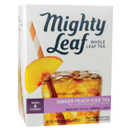 Mighty Leaf Tea - Iced, Ginger Peach - Case Of 6 - 6 Count