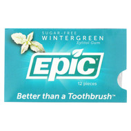 Epic Dental - Gum Xylitol Wintergreen - Case Of 12-12 Ct