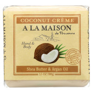 A La Maison - Bar Soap - Pure Coconut - Case Of 6 - 3.5 Oz