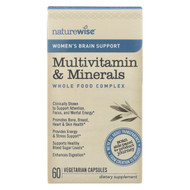 Naturewise - Women's Multivitamin And Minerals - Brain Support - 60 Vegetarian Capsules