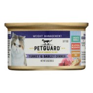 Petguard Cats Food - Lite Turkey And Barley Dinner - Case Of 24 - 3 Oz.
