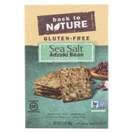 Back To Nature Crackers - Adzuki Bean And Sea Salt - Case Of 12 - 3.5 Oz.