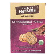 Back To Nature Crackers - Organic Stoneground Wheat - Case Of 6 - 6 Oz.