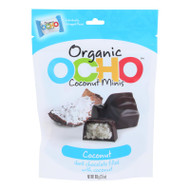 Ocho Candy - Organic Coconut Mini Bars - In Dark Chocolate - Case Of 12 - 3.5 Oz