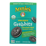 Annie's Homegrown Cookie Grabbits Chocolate Mint - Case Of 10 - 8.06 Oz