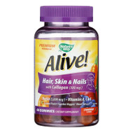 Nature's Way - Alive! Hair, Skin And Nails Gummies With Collagen - 60 Gummies