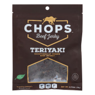 Chops Beef Jerky - Beef Jerky Teriyaki - Case Of 8-2.75 Oz