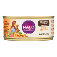 Halo Purely For Pets Spots Stew - Cat - Beef And Chicken - Can - Case Of 12 - 5.5 Oz