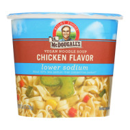 Dr. Mcdougall's Vegan Noodle Lower Sodium Soup Cup - Chicken - Case Of 6 - 1.4 Oz.