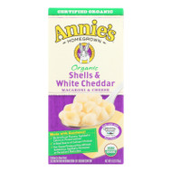 Annie's Homegrown Organic Shells And White Cheddar Macaroni And Cheese - Case Of 12 - 6 Oz.
