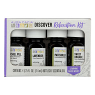 Aura Cacia - Discover Relaxation Essential Oil Kit - Each Of - 4/0.25 Fl Oz.