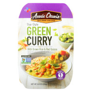 Annie Chun's  Medium Spicy Green Curry Ready Meal - Case Of 6 - 9 Oz