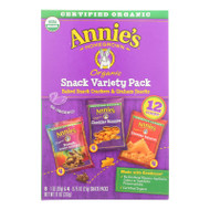 Annie's Homegrown Snack Pack - Organic - Variety - 12ct - Case Of 6 - 12 Count