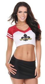 Sporty Football Jersey Crop Top- Logo