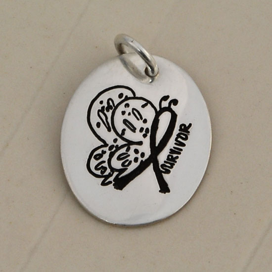 Small Oval Artwork Charm