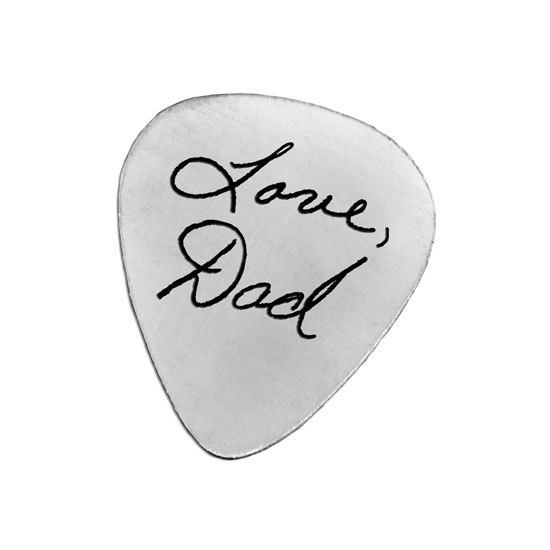 Silver Handwriting Guitar Pick