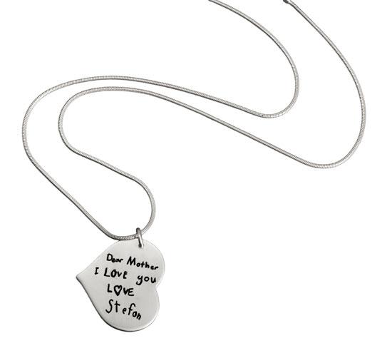 Custom Heart Signature Necklace