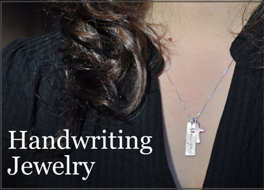 ba522b6fe0a0f Handwriting Jewelry & Artwork Jewelry, with Your Actual Handwriting ...