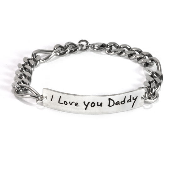 Signature Handwriting ID Bracelet for Him
