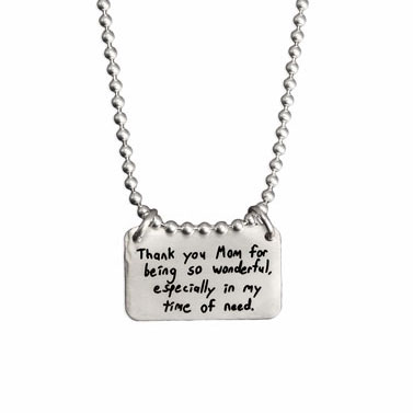 Infinity Handwriting Necklace