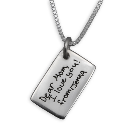Love Note Handwriting Necklace