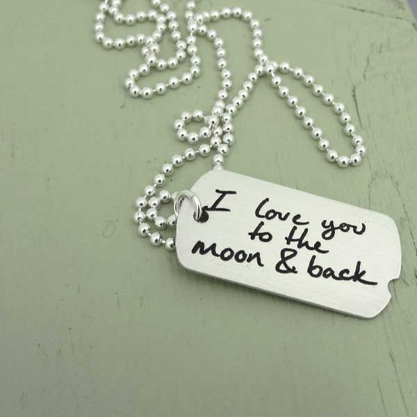 Handwriting Military Tag Necklace