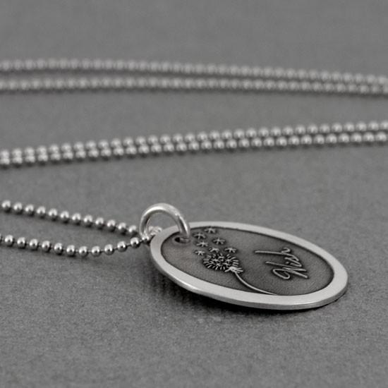 Wish dandelion necklace pendant