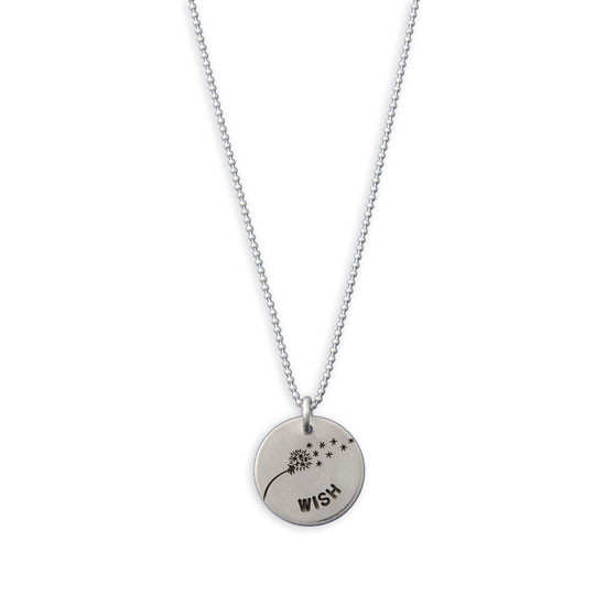 Hand stamped Wishie Necklace on fine ball chain