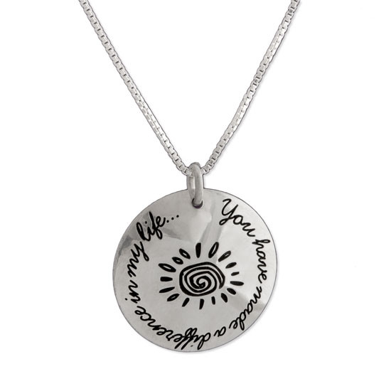 You Have Made a Difference Coach Necklace