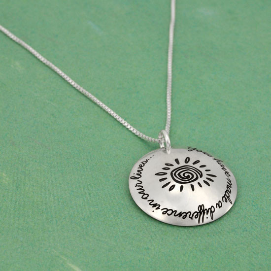 Teacher appreciation necklace