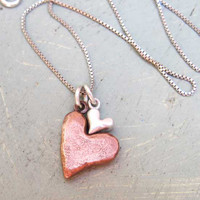 Chunky Nesting Hearts Necklace