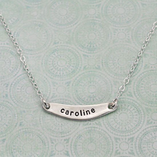 Arc necklace personalized