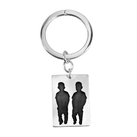 Photo Silhouette Key Ring