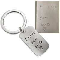 Note to Dad on a key ring