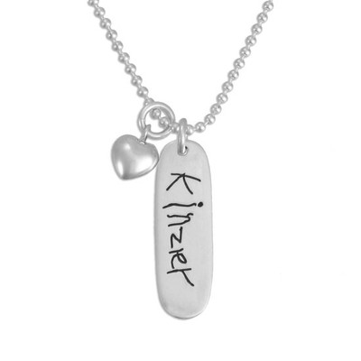 Handwriting Jewelry Sterling Silver