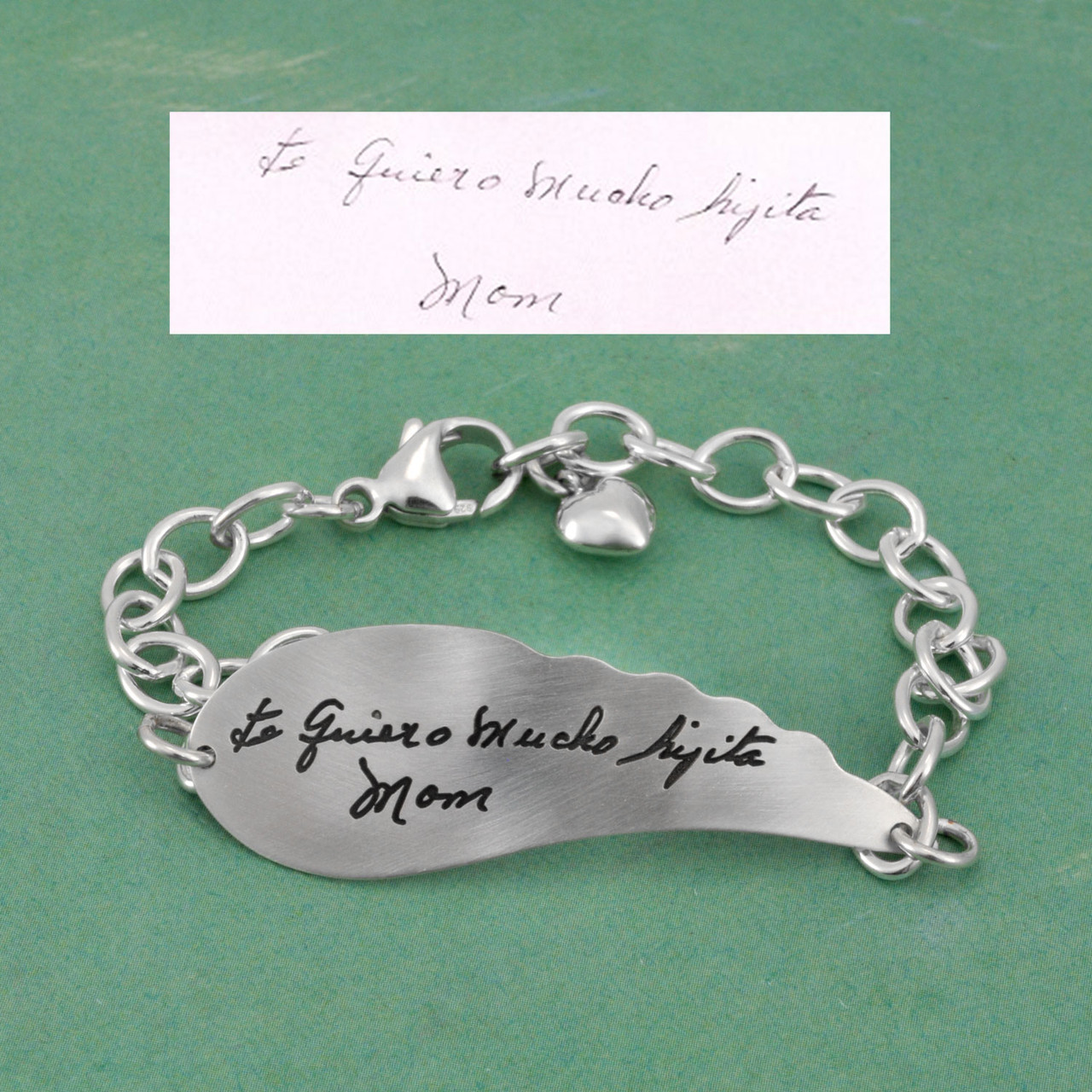 Signature Bracelet Custom Made with Handwriting From a Loved One
