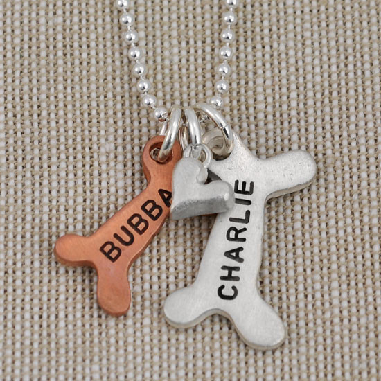 Dog Bone Necklace Personalized