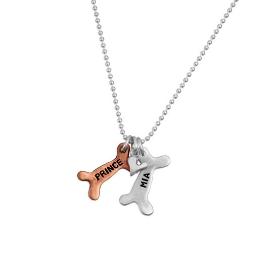 Personalized Dog Bone Necklace