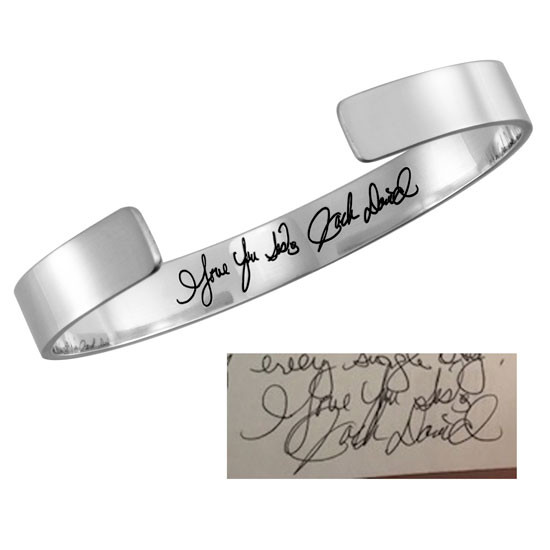 Handwriting on inside of cuff