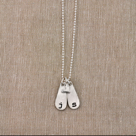 Initial personalized necklace