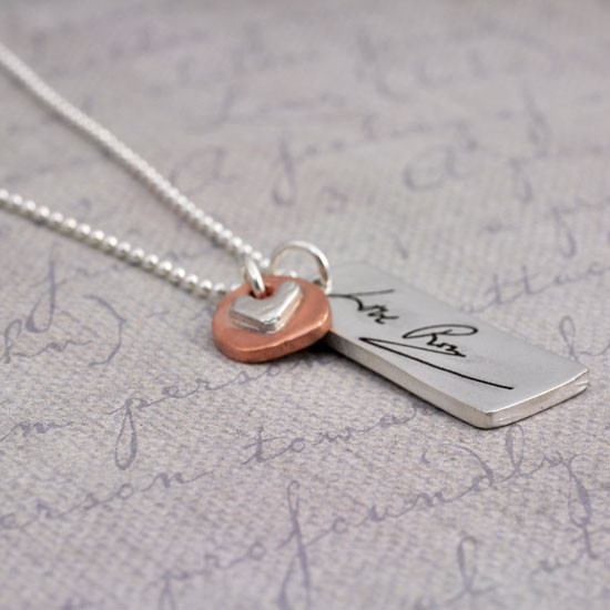 Rectangle signature necklace