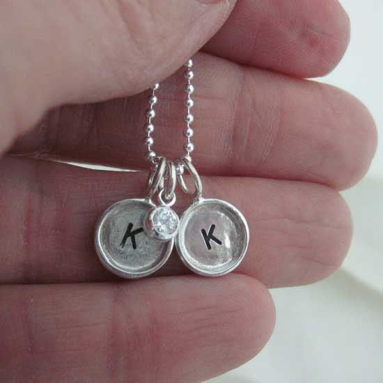 Mini hand stamped charms