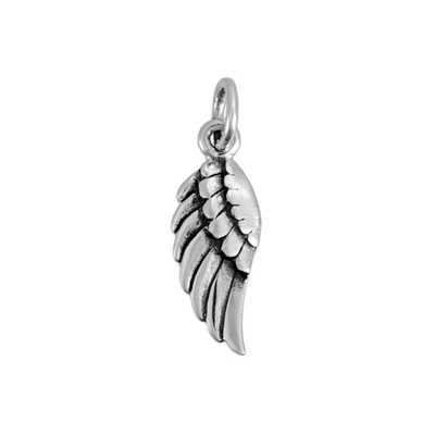 Silver Angel wing to add to your hand stamped or handwriting memorial necklace or bracelet