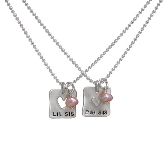 Heart puzzle necklace for sisters